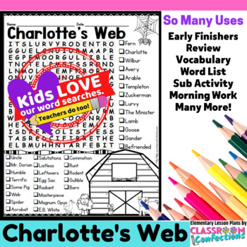 Charlotte's Web: Word Search Activity