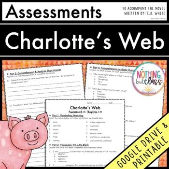 Charlotte's Web: Tests, Quizzes, Assessments