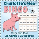 Charlotte's Web BINGO & Memory Matching Card Game Activity