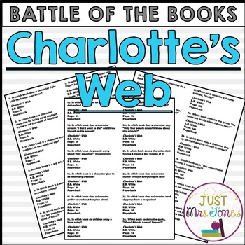 Charlotte's Web Battle of the Books Trivia Questions