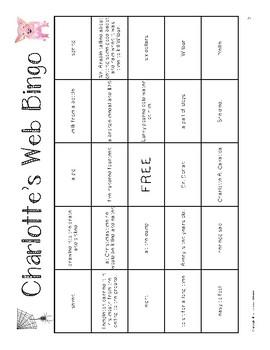 Charlotte's Web Bingo Game