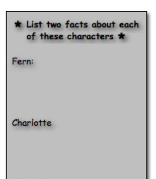 Charlotte's Web Book Brochure