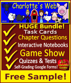 Charlotte's Web Free Bookmarks