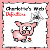 Charlotte's Web Chapter 1# & #2 Definitions Game - Distanc