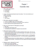 Charlotte's Web Chapter 1-22 STAAR Stem Questions