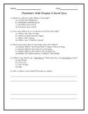 Charlotte's Web Chapter 5 Quick Quiz