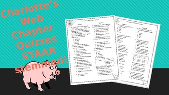 Charlotte's Web Chapter Quizzes STAAR Stemmed
