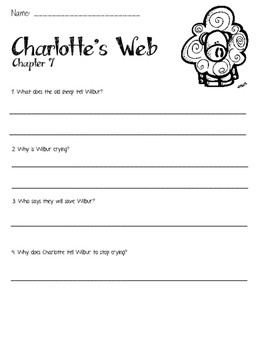 Charlotte's Web Chapter Review Questions
