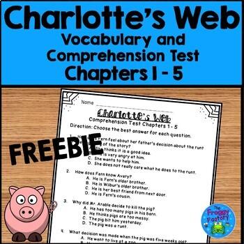 Charlotte's Web Test - Chapters 1-5 FREEBIE