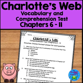 Charlotte's Web Test - Chapters 6-11