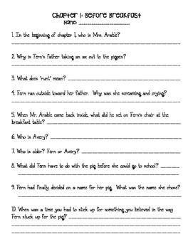Charlotte's Web Complete Comprehension Pack