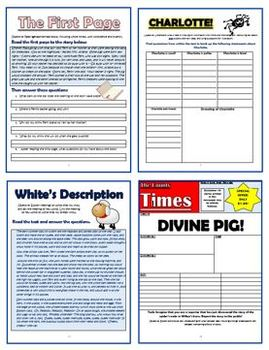Charlotte's Web - Comprehension Activities Booklet!