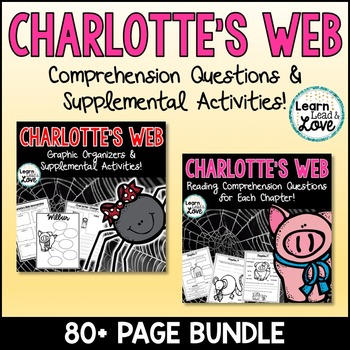 Charlotte's Web Comprehension BUNDLE!!