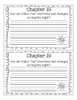 Charlotte's Web Comprehension Journal