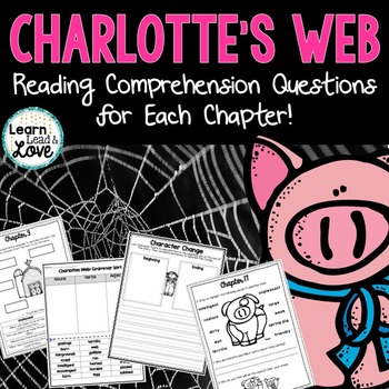 Charlotte's Web Comprehension Questions for Each Chapter!