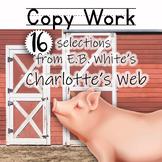 Charlotte's Web Copywork Pages in Manuscript