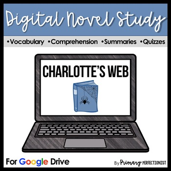 Charlotte's Web DIGITAL Novel Study and Self-Grading Tests Google Classrooms