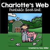 Charlotte's Web Novel Study: vocabulary, comprehension, writing, skills