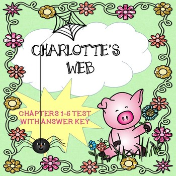 FREE Charlotte's Web Sampler Chapters 1-5 Test