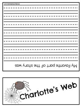 Charlotte's Web   Flip Book for Story Elements   Writing Prompts