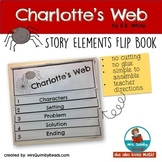 Charlotte's Web | Flip Book for Story Elements | Writing Prompts