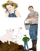 Charlotte's Web Inspired Clip Art: 24 Farm-Themed Images for Classroom Use
