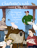 Charlotte's Web Inspired Clip Art: 24 Farm-Themed Images f
