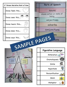 Charlotte's Web Interactive Literature and Grammar Notebook Foldables