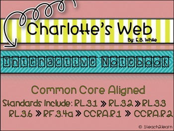 Charlotte's Web - Interactive Notebook