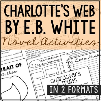 Charlotte's Web Interactive Notebook Novel Unit Study Activities, Book Report