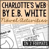 Charlotte's Web Interactive Notebook Novel Unit Study Activities, Book Report