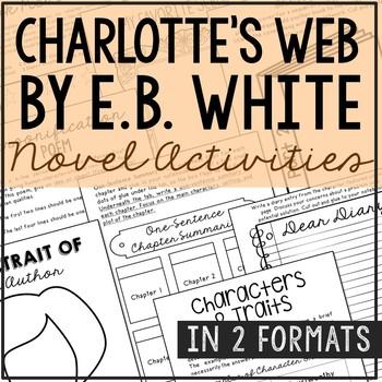 Charlotte's Web by E.B. White Interactive Notebook Novel U