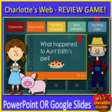 Charlotte's Web Game - Jeopardy Style for PowerPoint OR Google Classroom!