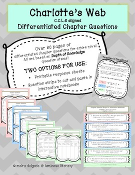 Charlotte's Web NO PREP Lesson Planning and Differentiation