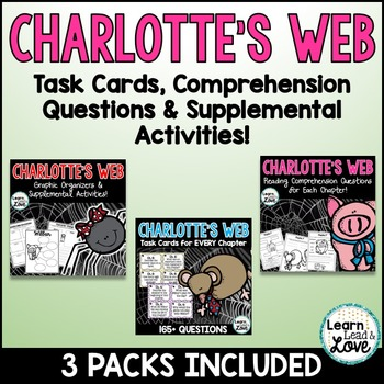 Charlotte's Web MEGA Literacy Comprehension BUNDLE!