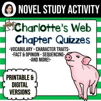 Charlotte's Web *No Prep* Chapter Quizzes