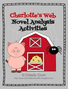 Charlotte's Web Novel Analysis Activities