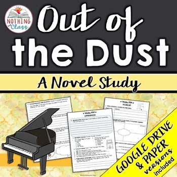 Out of the Dust Novel Study Unit: comprehension, vocabulary, activities, tests