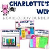 Charlotte's Web Novel Study Bundle (Lapbook & Comprehension Questions)