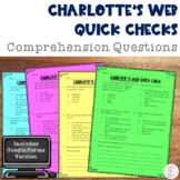 Charlotte's Web Novel Study Comprehension Questions