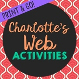 Charlotte's Web Novel Unit Study Activities, Book Companion Worksheets, Project