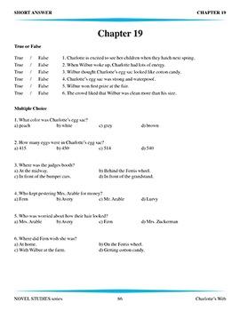 Charlotte's Web Novel Study Guide