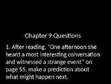 Charlotte's Web Novel Study Guiding Questions (for Chapter 9)