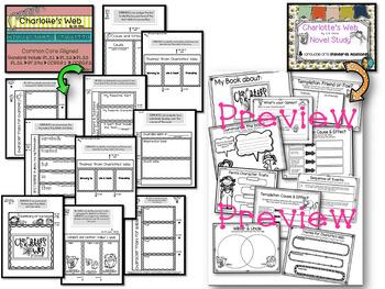 Charlotte's Web Novel Study - BUNDLE -2nd & 3rd Grade