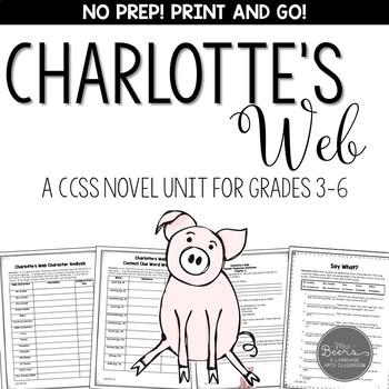 Charlotte's Web  Novel Unit for Grades 3-6 Common Core Aligned