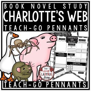 Charlotte's Web Novel by E.B. White [Book Review Template] Teach- Go Pennants™
