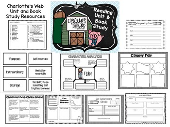 Charlotte's Web Reading Unit and Book Study
