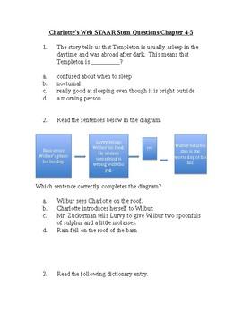 Charlotte's Web STAAR Stem Questions 4-5