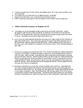 Charlotte's Web STAAR Stem Questions Chapter 16-17