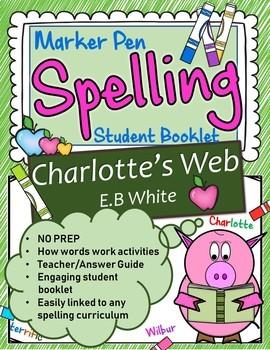 Charlotte's Web Spelling Booklet US Version